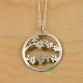Sterling Silver Cherry Blossom Jewelry
