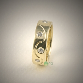 14K Yellow Ring with Flush Set Diamonds and Music Symbol.jpg
