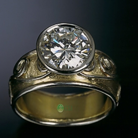 18K Floating Diamond Ring TOP view2.jpg