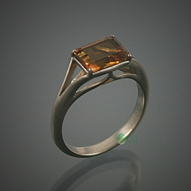18K White Gold with Citrine Engagement Ring.jpg
