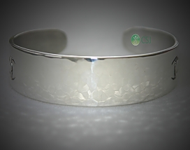 Custom Silver Cuff with Logo_Hammered Front.jpg