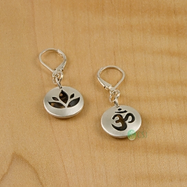 Matte Om, Lotus Pod Lever Earrings.jpg