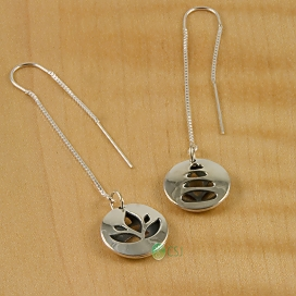 Shiny Lotus, Stacking Stones Pod Thread Earrings.jpg