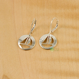 Shiny Sail Boat Lever Earrings.jpg