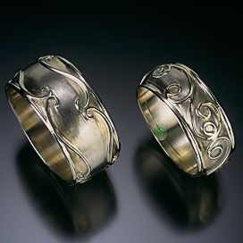 two tone 14K Scroll Rings side by side.jpg