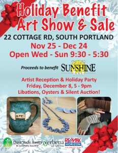 Holiday Sale, Show and Benefit Starts November 25!