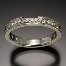 14K Diamond Wedding Band with Bead and Bright Cut Settings.jpg