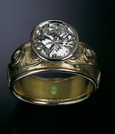 18K Floating Diamond Ring TOP view.jpg
