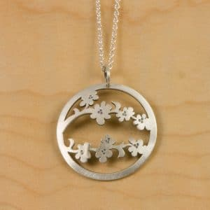 Cherry Blossom Jewelry Swaying Petals Pendant