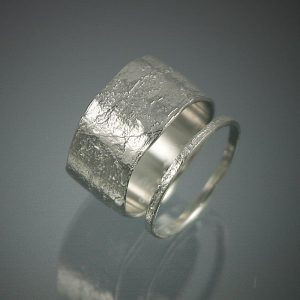 Gold Jewelry 11mm Birch Bark Ring