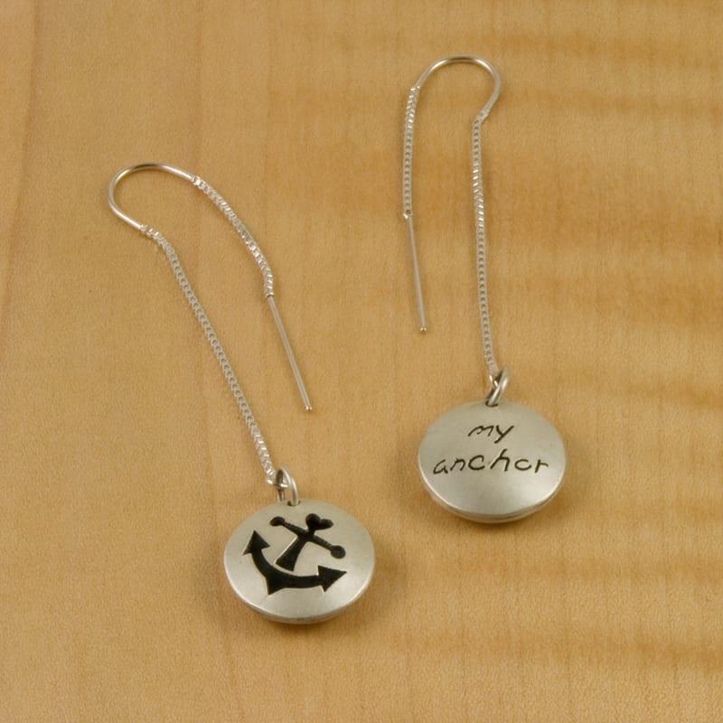 Anchor My Anchor Pod thread Earrings - Shop Chaya Studio Jewelry
