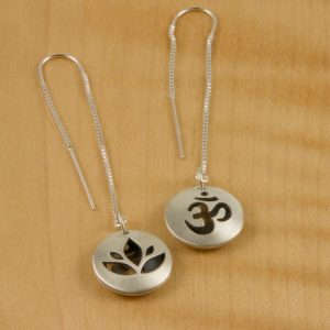 Matte-Lotus-Ohm-Pod-Thread-Earrings-300x300 Sanskrit Drop Earrings