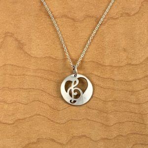 Gifts Under $100 Treble Clef Pendant