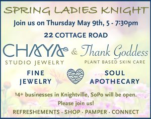 Spring ladies night announcement 600 wide 1 300x237 - Ladies Knight in Knightville...Just in Time to Celebrate Mom!