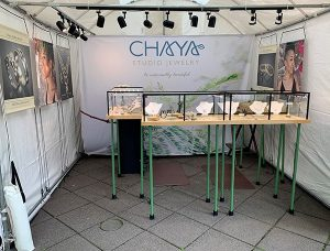 Chaya New Booth July 2019 300x228 - Summer Shows: I'm on the Road