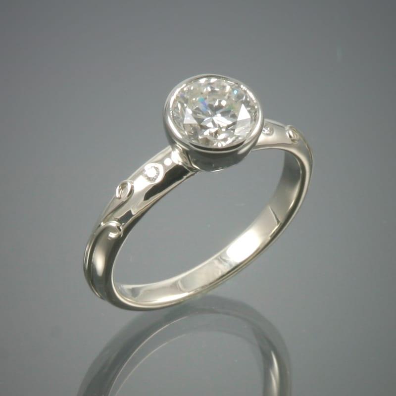 18K Diamond Vineyard Ring 99999x800 - Custom Bridal Jewelry