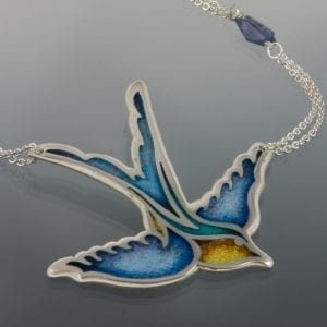 Blue Swallow Close Up 300x300 - Custom Jewelry Gallery