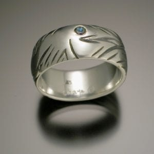 Fish Ring with Sapphire 300x300 - Custom Jewelry Gallery