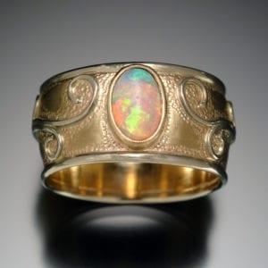 Gold Opal Restoration Ring TOP 1 300x300 - Custom Made