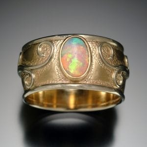 Gold Opal Restoration Ring TOP 300x300 - Heirloom Redesign