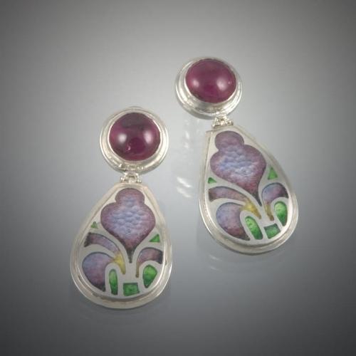 Iris Tourmaline Earrings 99999x500 - Custom Jewelry Gallery
