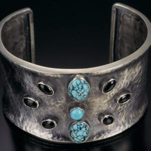 Sterling Turquoise Cuff Close Up 1 300x300 - Custom Made