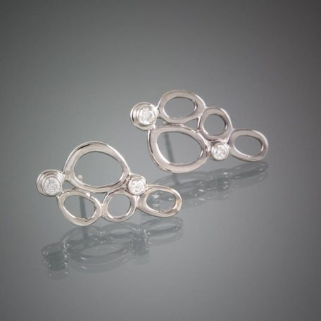 Cynthia Earrings 14KW Diamonds with gradient