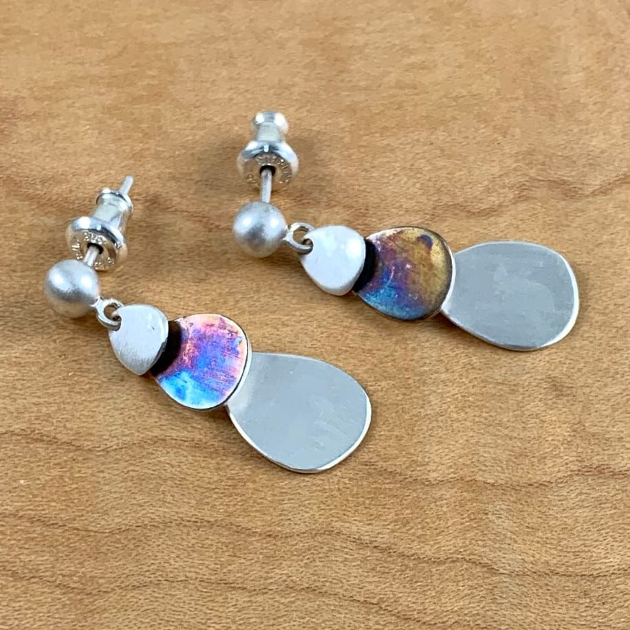 3 Tier Cascade Earrings Post 2 - Shop Chaya Studio Jewelry